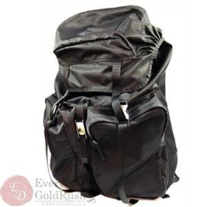 PRADA rucksack backpack shoulder bag nylon black V
